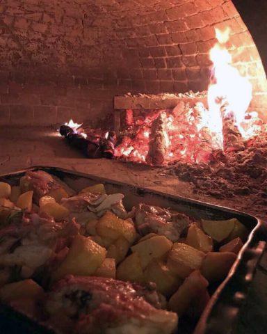 Cotture in forno a legna