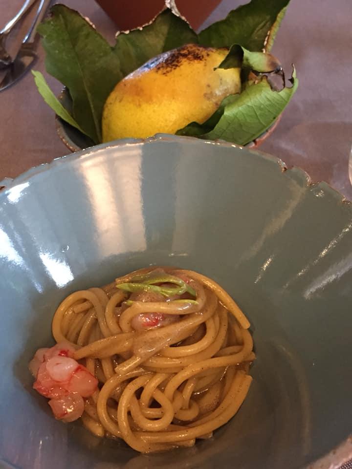 Satricum, gli spaghetti ai gamberi e limone bruciato