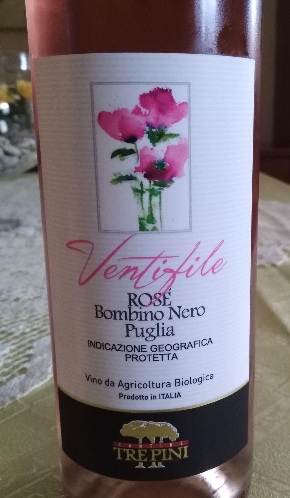 Ventifile Rose' Bombino Nero Puglia Igp 2018 Tre Pini