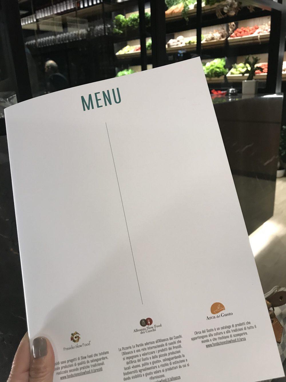 Le Parule Pizzeria & Orto - Menu'