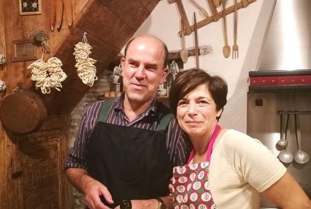 Emilio Di Biase con la moglie