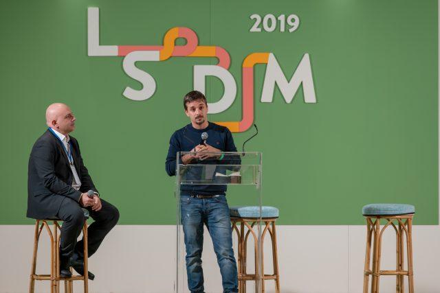 Gianluca Gorini a LSDM 2019 con Albert Sapere