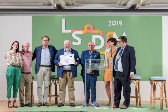 Umberto Bombana a LSDM2019 ritira il Premio Olitalia Modello d'Ispirazione 2019