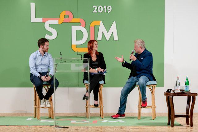 Riccardo Orfino, Eleonora Cozzella, Peppe Guida sul palco di LSDM 2019