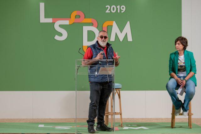 Salvatore Tassa a LSDM 2019 con Barbara Guerra