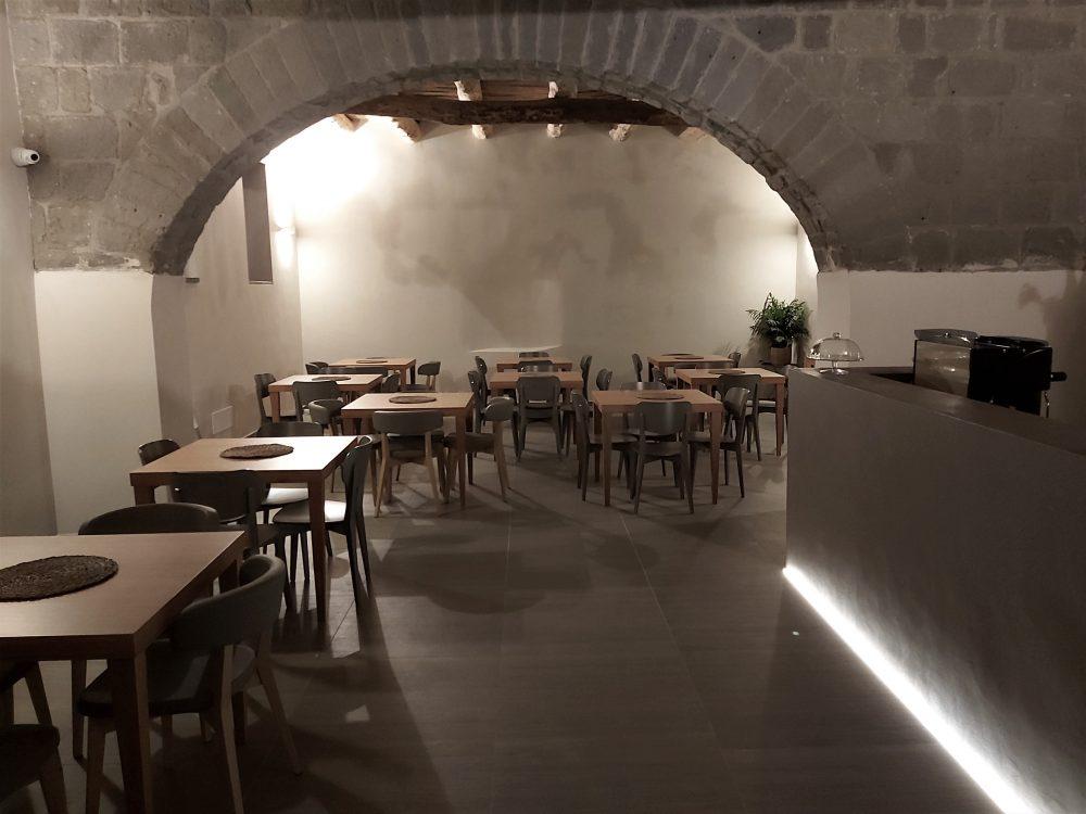 I Cacciagalli – interno sala degustazione vini