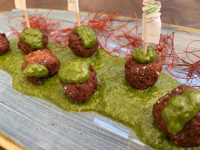 La Spelunca - Polpettine su crema di broccoli