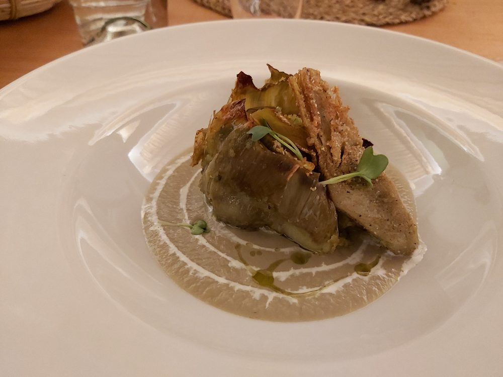 I Cacciagalli – il carciofo crema all'aglio e menta