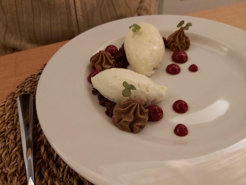 I Cacciagalli – mousse cioccolato e lamponi