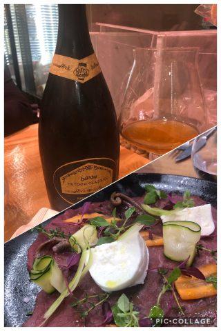 Chiancheria - Verdure e carpaccio di Bufala, alici e mozzarella in abbinamento a birra Baladin Metodo Classico 2016