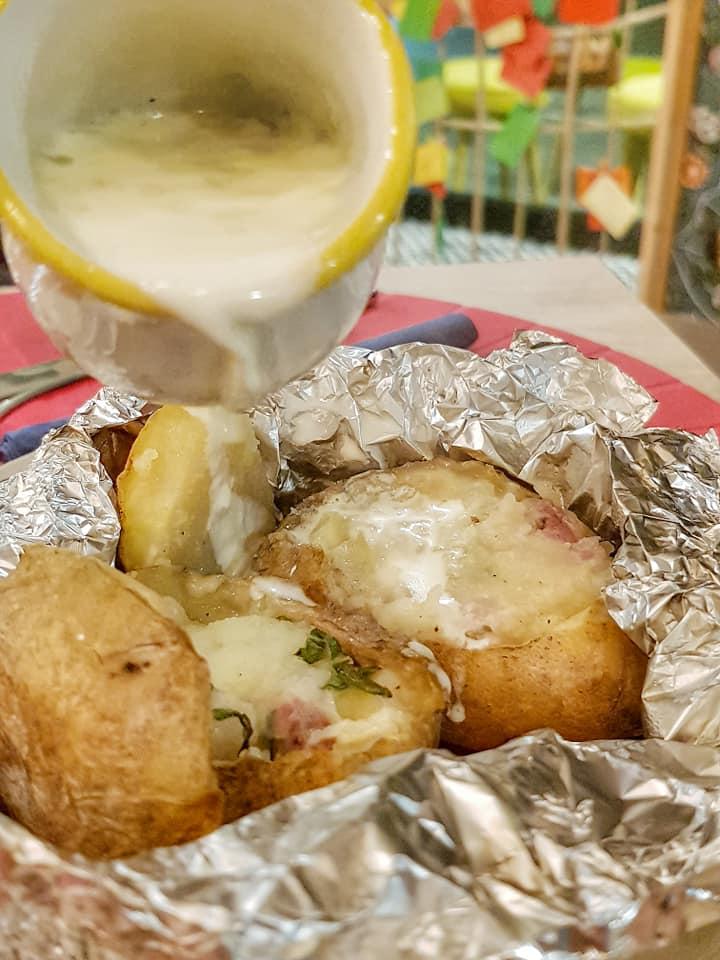 Chiu' o Meno - patata al cartoccio