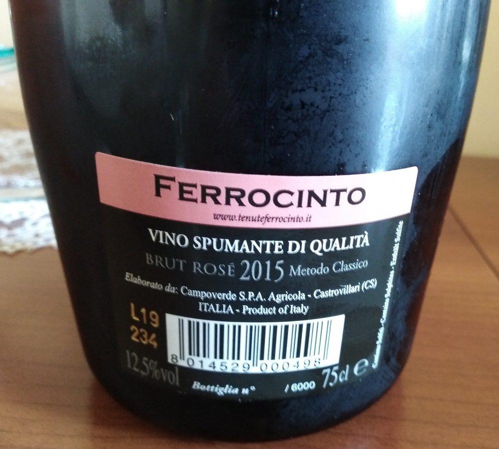 Controetichetta Dovi' Spumante Rosé Brut 2015 Ferrocinto