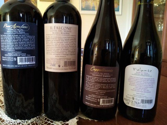 Controetichette vini di Rivera