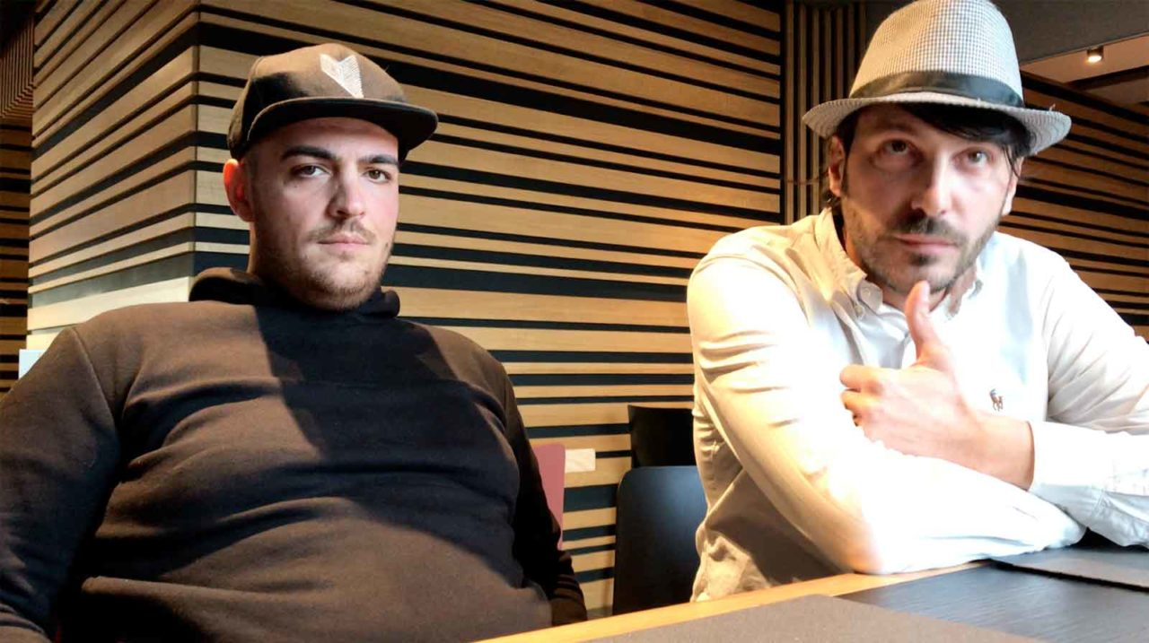 Gianluca Sivo, colui che intervistava l'imitatore provocandolo, amico intimo di Salvatore Lioniello. Foto Scatti di Gusto