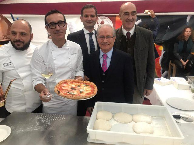 Gino Sorbillo, Aurelio Grasso, Libero Rillo e Helmut Köcher