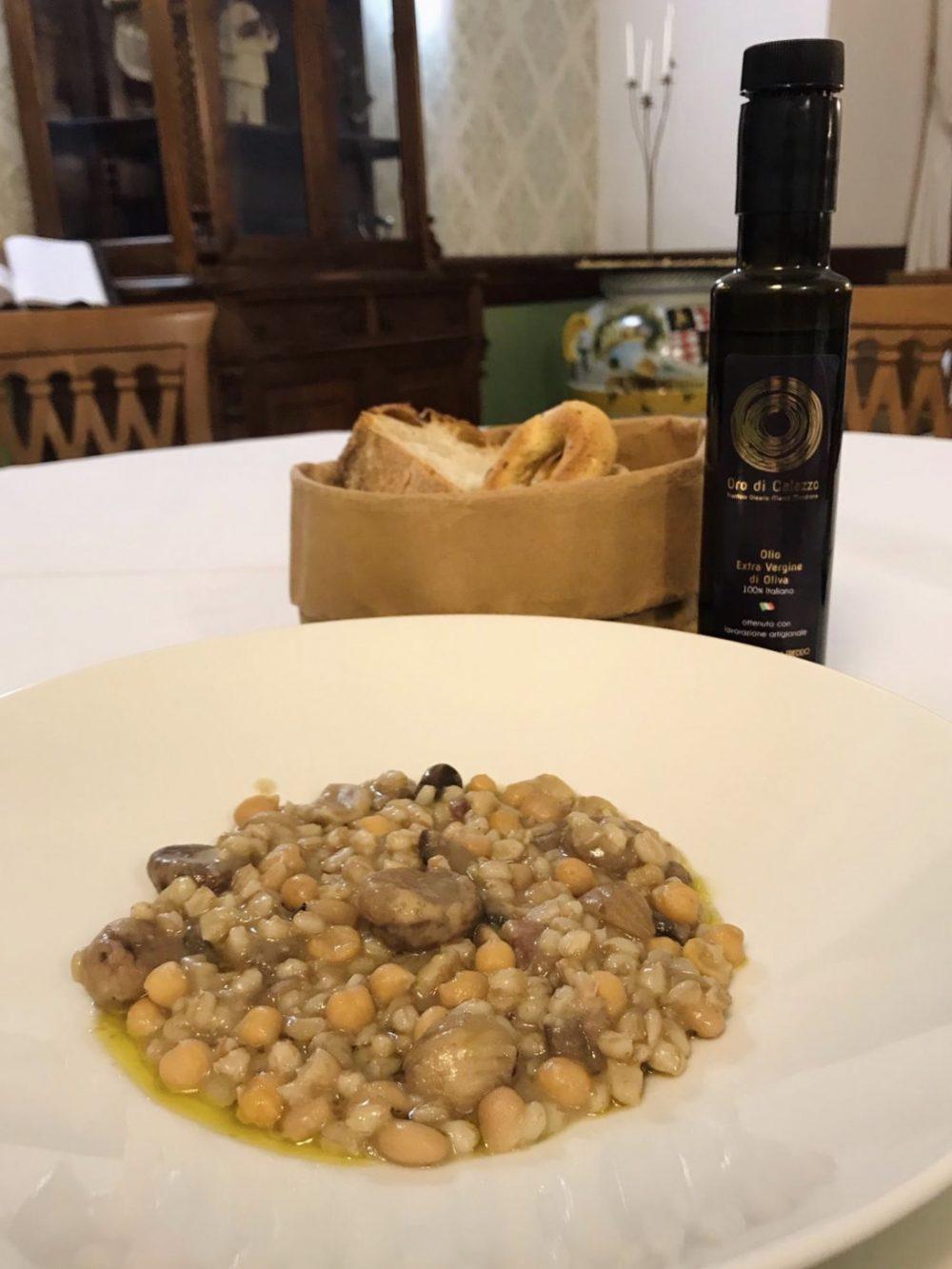 Il Frantoio Ducale - Zuppa di farro, ceci, fagioli e castagne