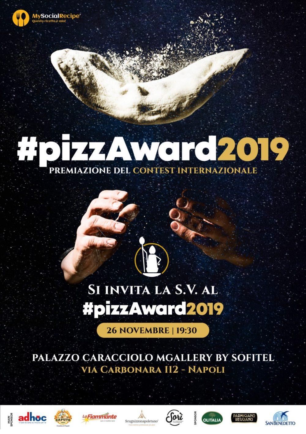 Invito premiazione #pizzAward 26 novembre