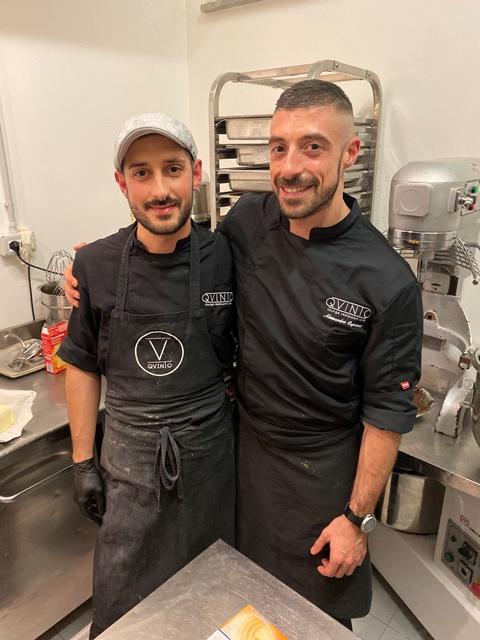 Mattia Paradisi e il pastry chef Alessandro Capotosti