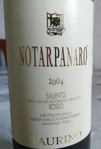 Notarpanaro Salento Rosso Igp 2004 Taurino