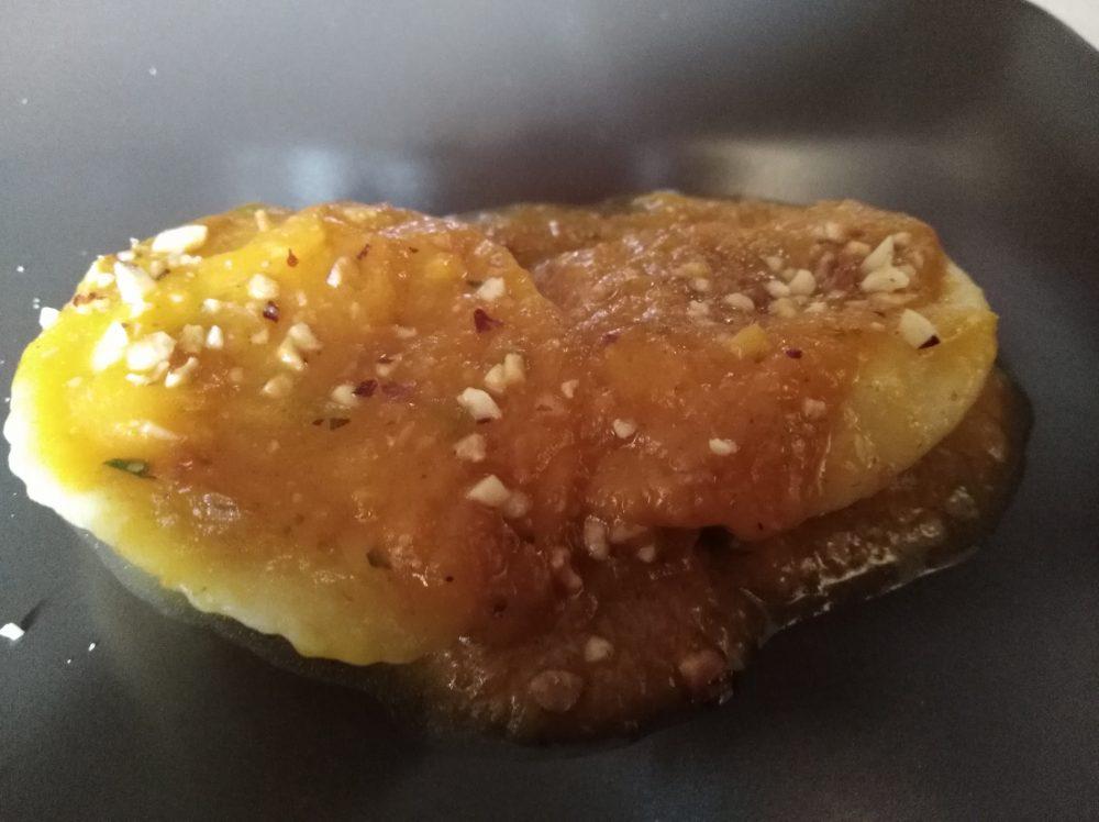 Osteria Il Panigaccio Ravioli di ricotta di bufala alla zucca