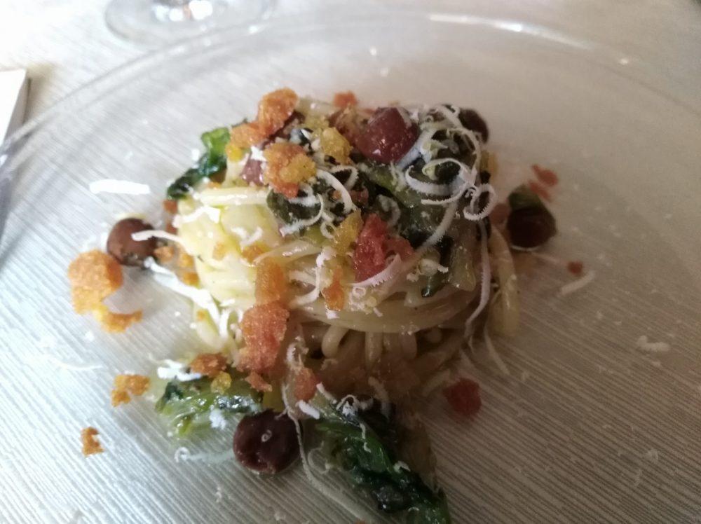Osteria Il Panigaccio Spaghettone di Gragnano con scarola ricca