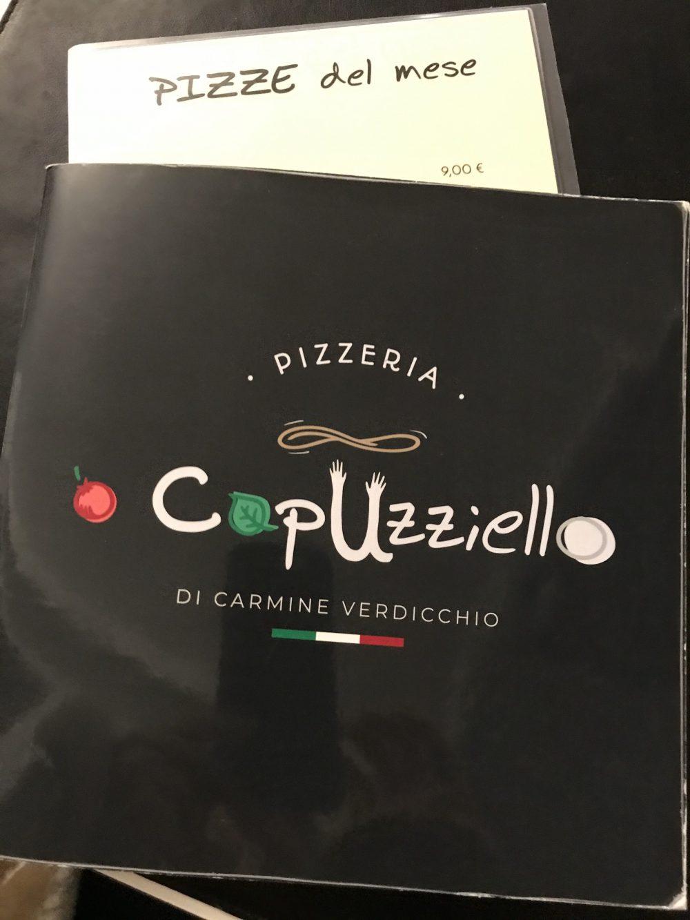 Pizzeria O' Capuzziello - menu'