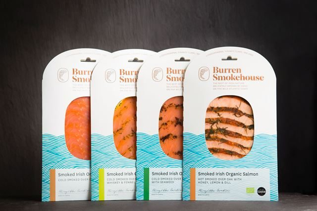 Selezione di prodotti del Burren Smokehouse