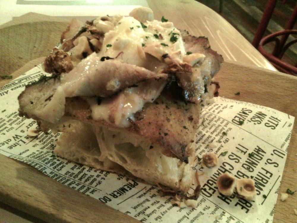 Storie DiPinte- La Scrocchiarella - pancia di maiale in porchetta, gorgonzola e nocciole