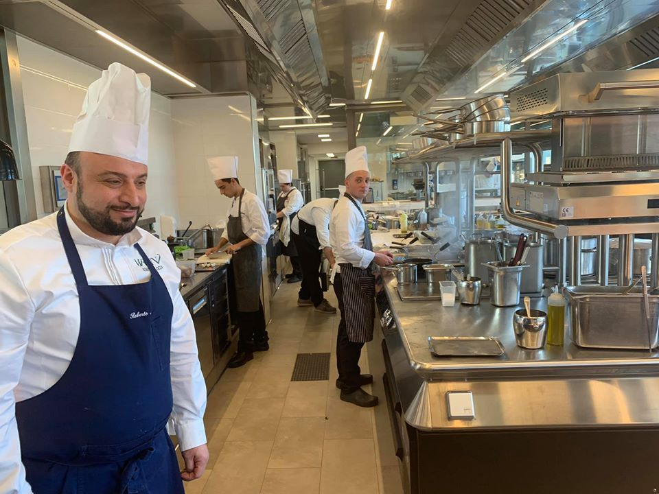 Ristorante Marenna' dei Feudi di San Gregorio, Roberto Allocca in cucina