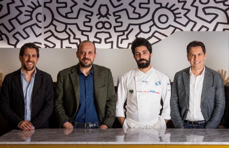 Angelo Borghese con i fratelli Petretti - da sx Piergiorgio, Gerardo e Gennaro - Enzo Figliolia Fotografia