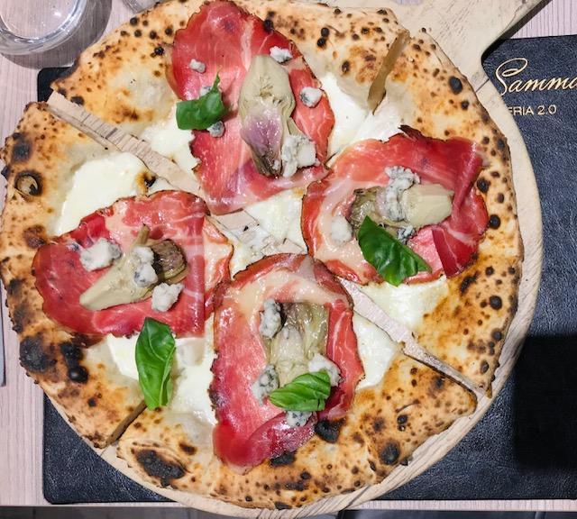 Carlo Sammarco Pizzeria 2.0 - Capocollo di cinta senese e blu di capra