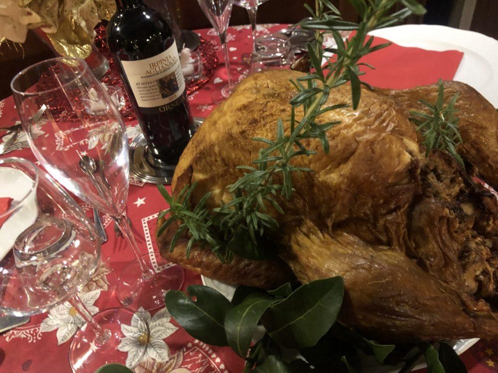 Cena di auguri di Natale - tacchino