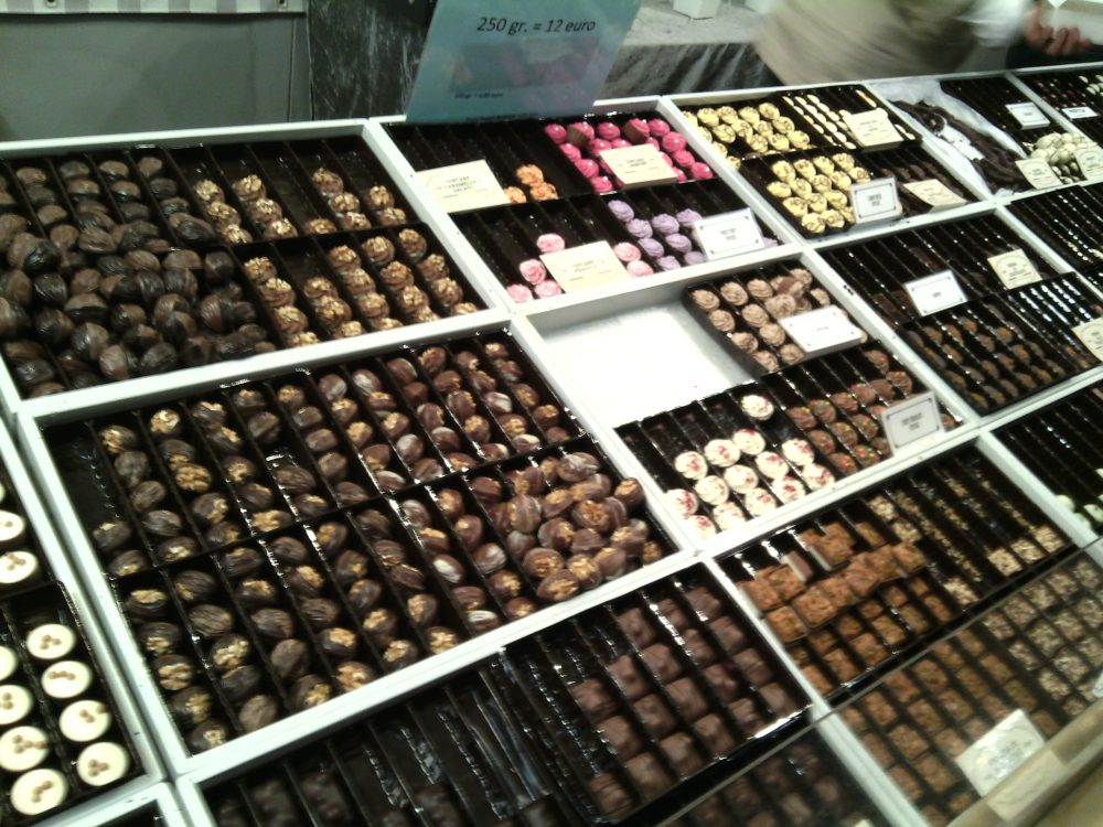 Cioccoshow- Gli stand delle praline