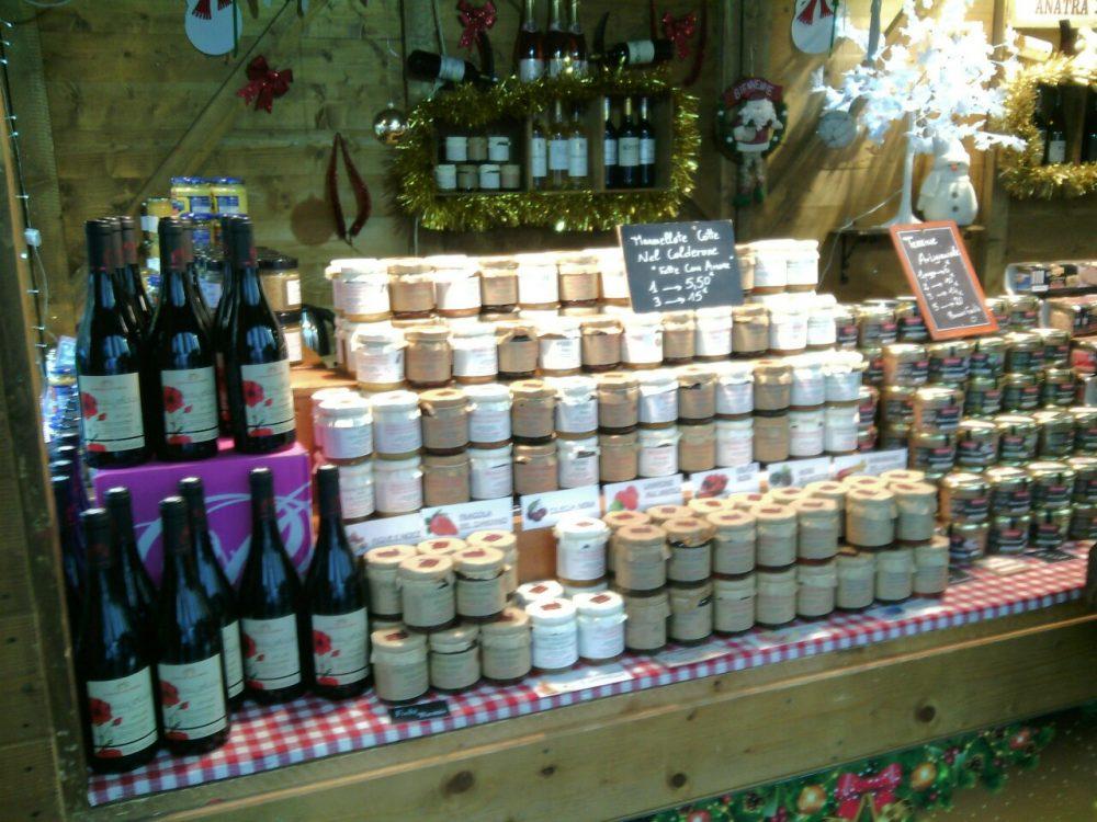 Cioccoshow e mercatini- I vini e i vasetti da asporto