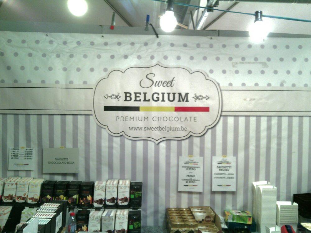 Cioccoshow- Lo stand del Belgio
