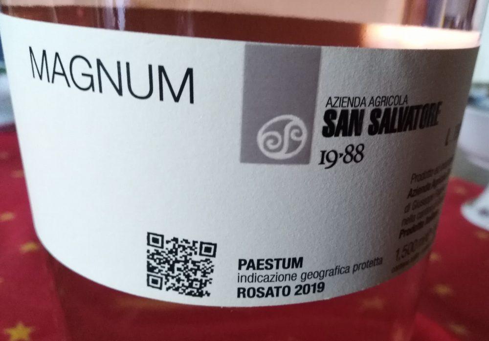 Controetichertta Vetere Aglianico Rosato Paestum Igp 2019 San Salvatore