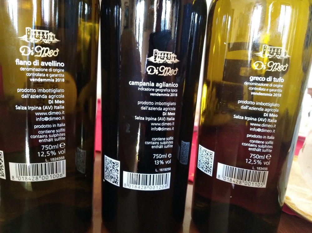 Controetichette vini di Di Meo
