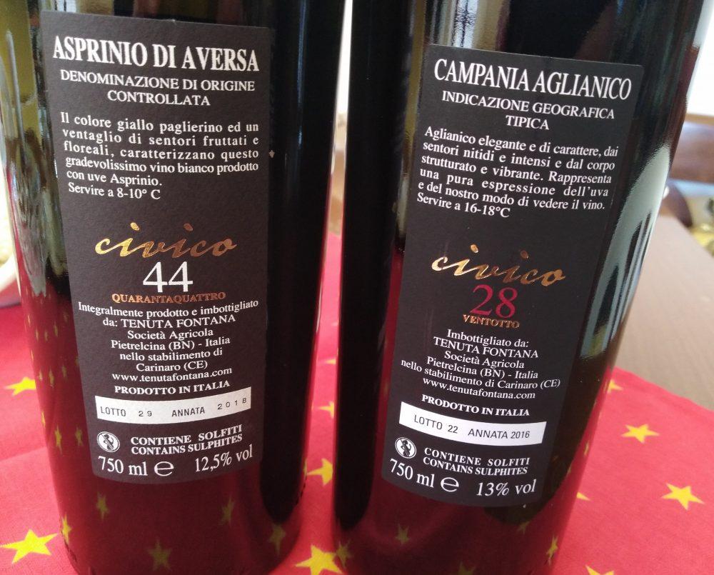 Controetichette vini di Tenuta Fontana