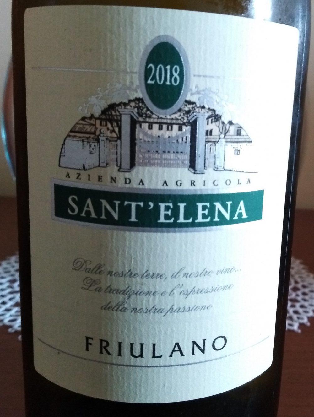 Friulano Friuli Isonzo Dop Rive Alte 2018 Sant'Elena