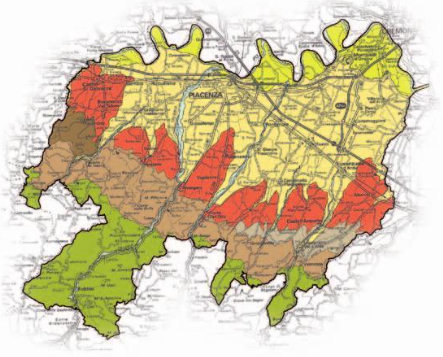 La Malvasia passita dei Colli Piacentini - Mappa