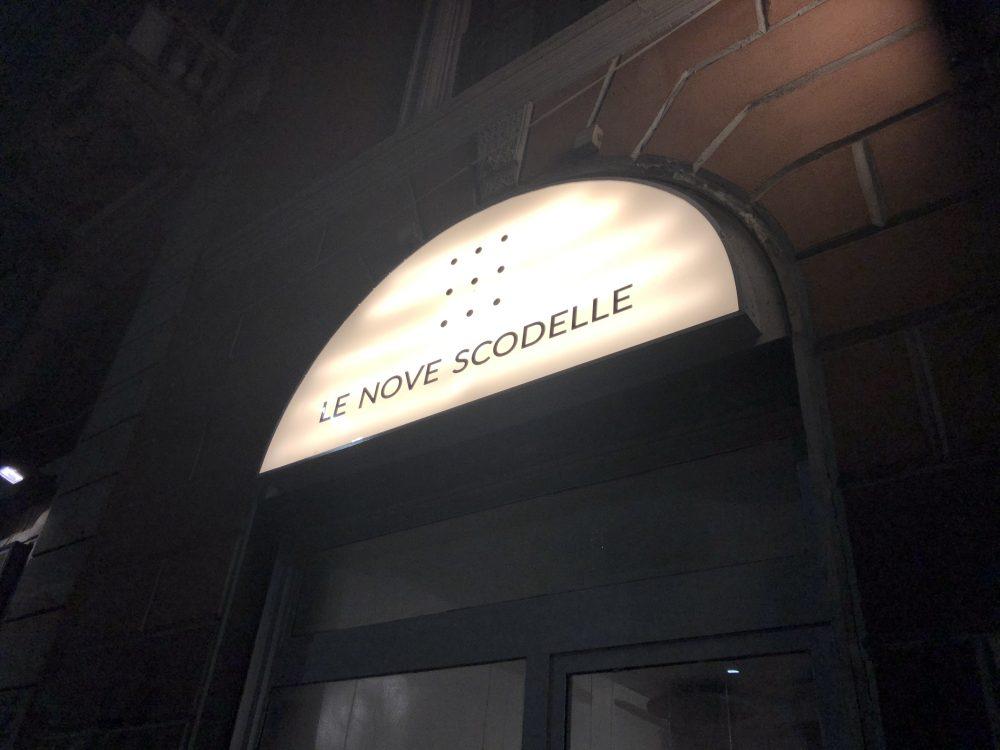 Le Nove Scodelle - Insegna