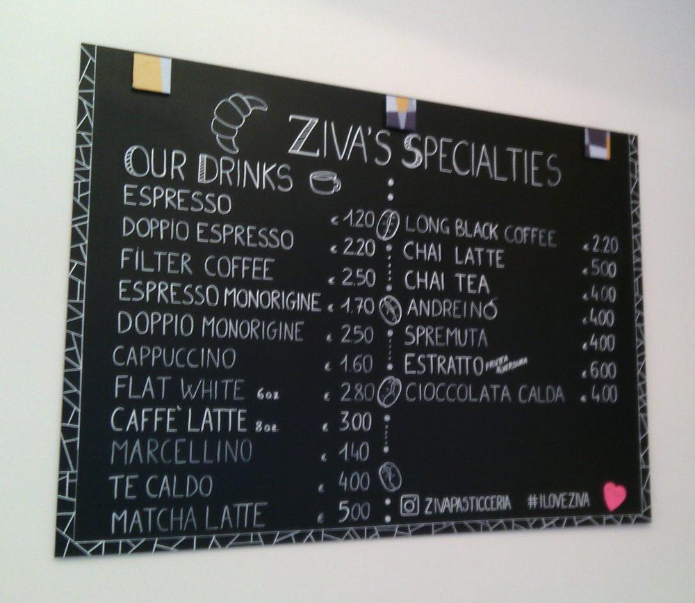 Pasticceria Ziva- La proposta di caffetteria