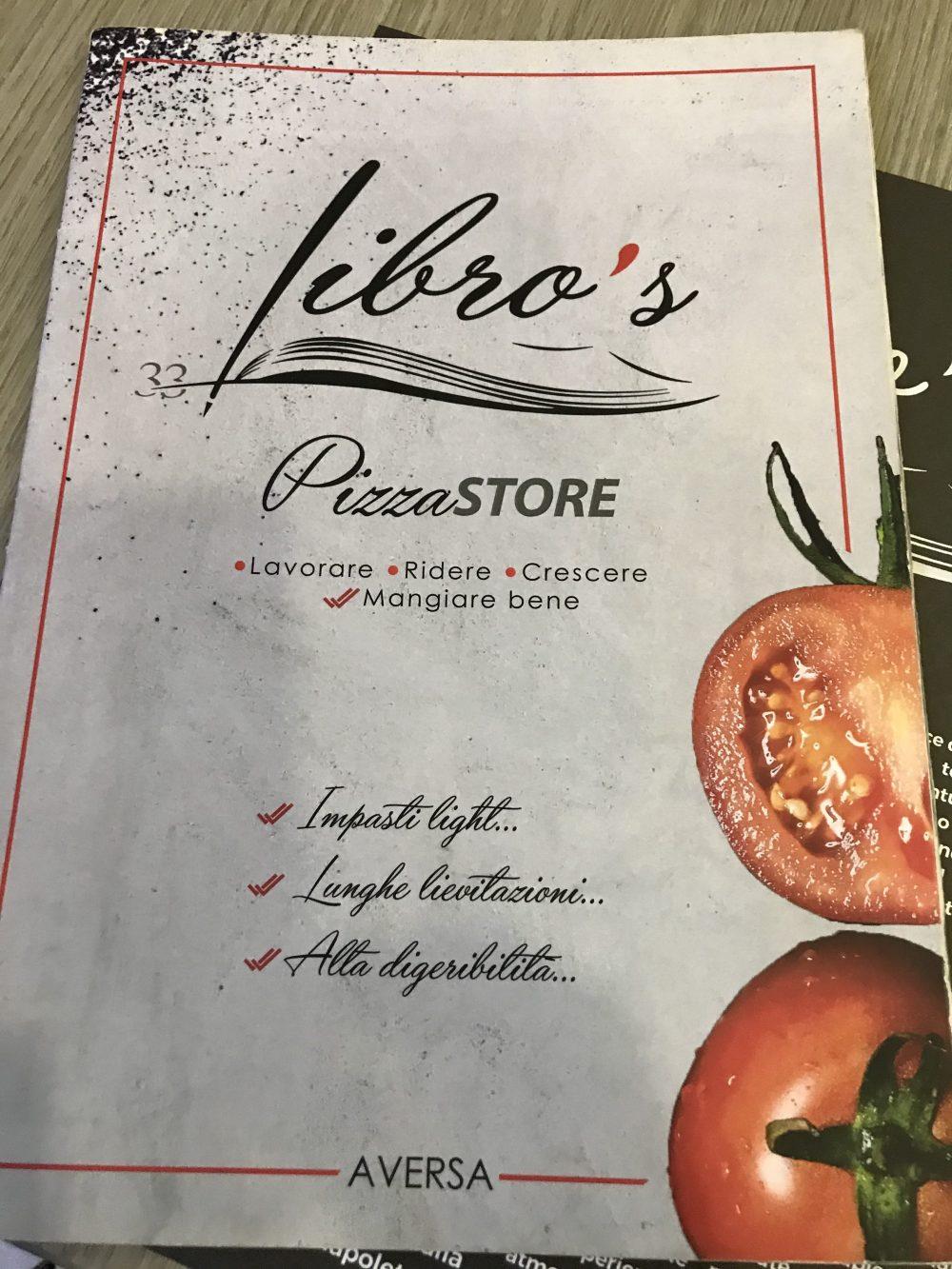Pizzeria Libro's - menu'