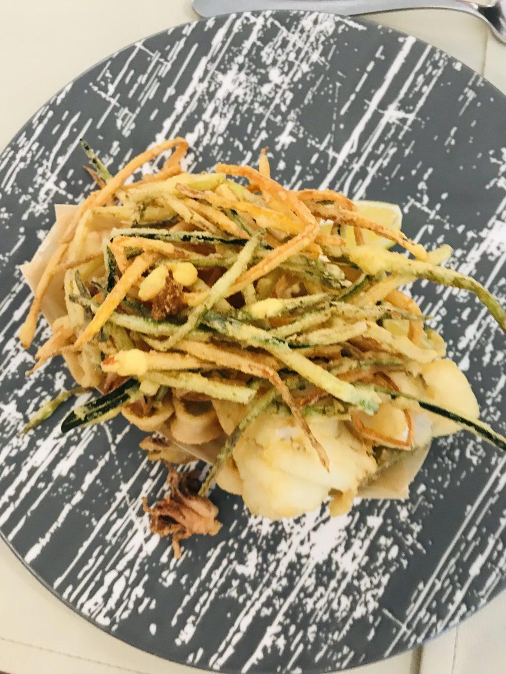 Rovy Ristorante - Baccala' e calamari, melanzane e carote