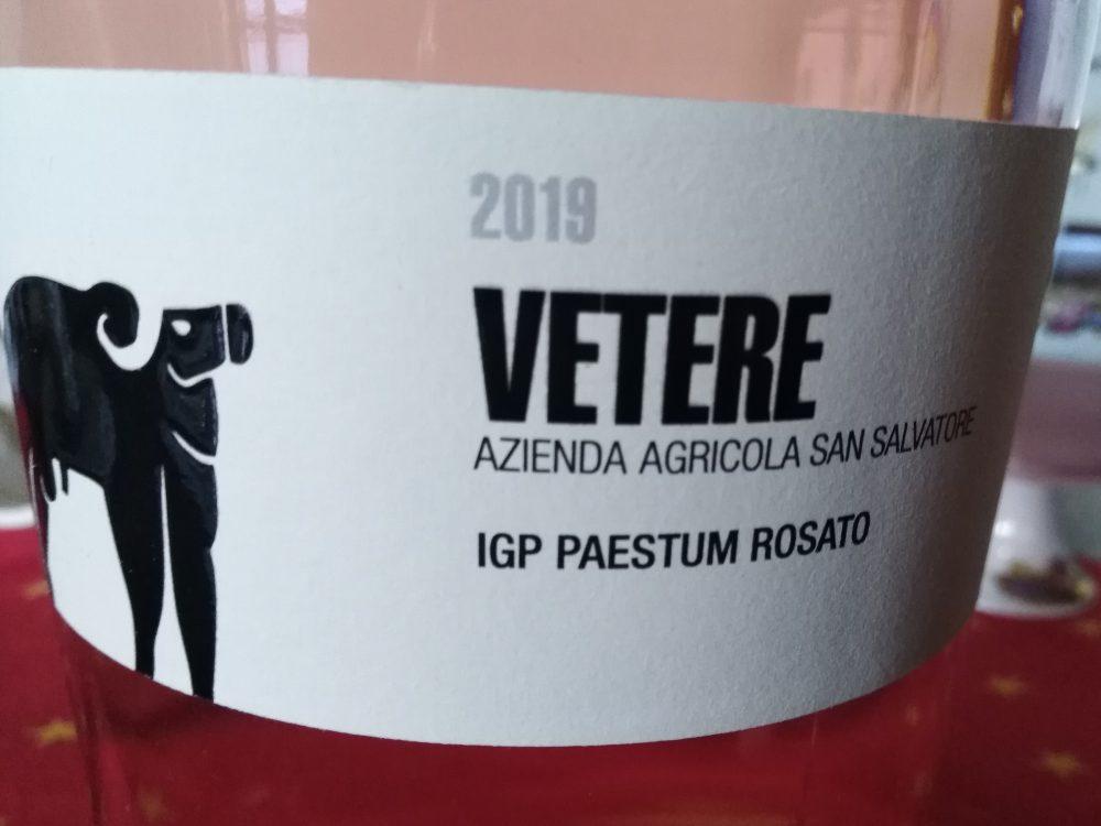 Vetere Aglianico Rosato Paestum Igp 2019 Sa Salvatore