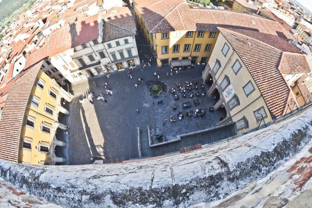 eatPRATO - la vista da Palazzo Pretorio quartier generale dell'evento