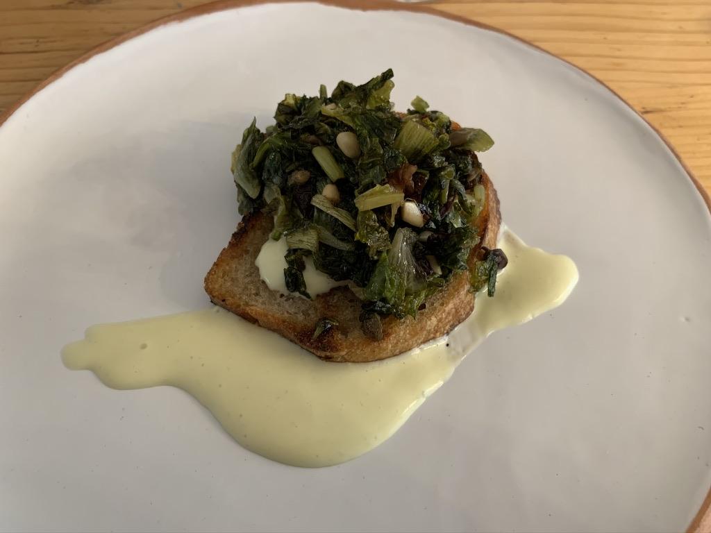Masseria Sardo - Crostino di scarole e maionese vegetale