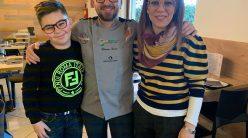 Giacomo Garau con la moglie Michela e il figlio Eugenio