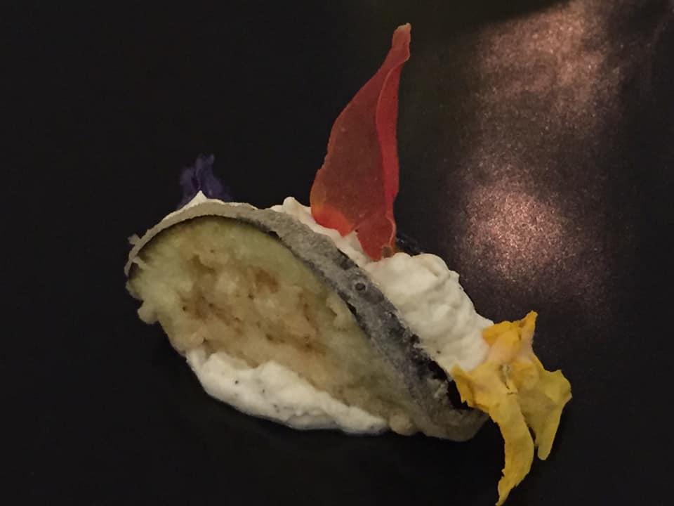 Ristorante Garo', taco napoletano con melanzana e ricotta