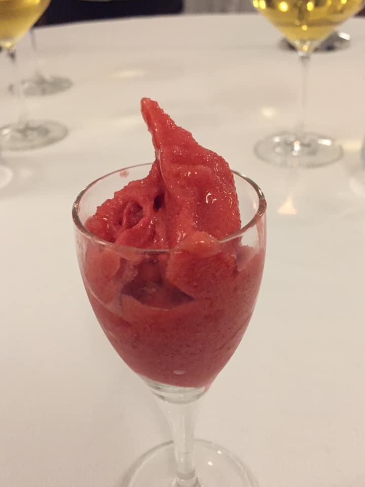 Ristorante Garo', pre dessert al lampone